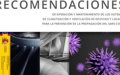 Recomendaciones de operación y mantenimiento de los sistemas de climatización y ventilación frente al COVID-19